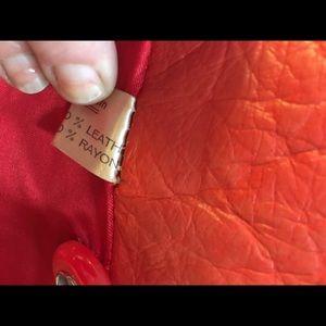 Vintage red leather coat